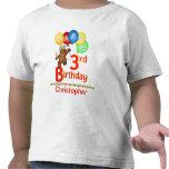 3rd Birthday Regal Teddy Beary Custom Name T-shirt