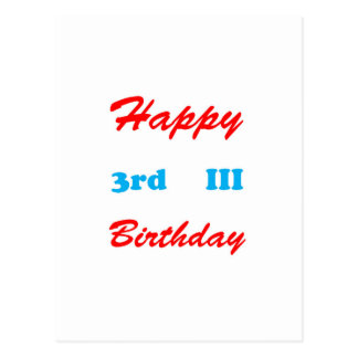 3rd Birthday RETURN GIFTS BUTTONS Shirts Stickers Postcard