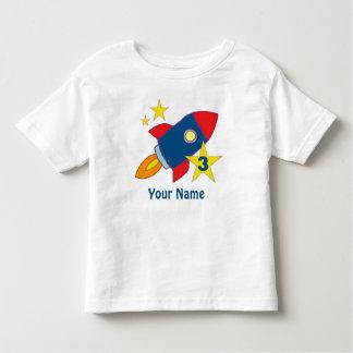 3rd Birthday Rocket Ship Personalized T-Shirt