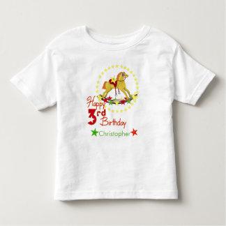 3rd Birthday Rocking Horse Stars Toddler T-shirt