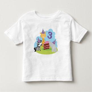 3rd Birthday Safari Toddler T-shirt
