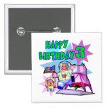 3rd Birthday Space Birthday Button