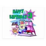 3rd Birthday Space Birthday Postcards