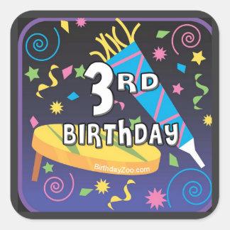 3rd Birthday Square Sticker