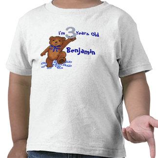 3rd Birthday Teddy Bear Shirts