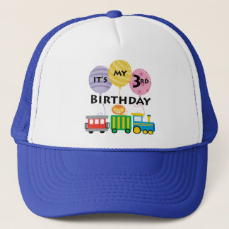 3rd Birthday Train Birthday Trucker Hat
