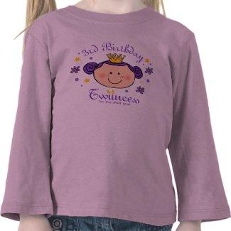 3rd Birthday Twincess Personalized Shirt
