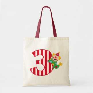 3rd Birthday Waving Circus Clown Bag