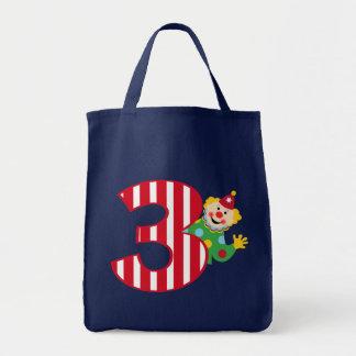 3rd Birthday Waving Circus Clown Bag