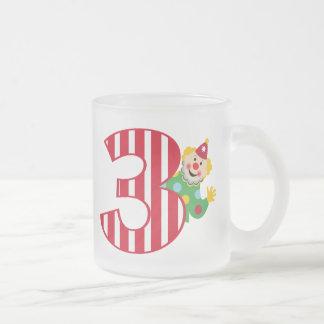 3rd Birthday Waving Circus Clown Frosted Mug