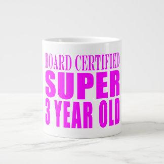 3rd Birthdays Board Certified Super Three Year Old Jumbo Mug