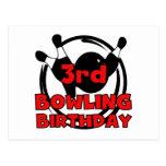 3rd Bowling Birthday Tshirts and Gifts Postcard