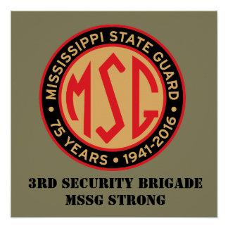 3rd Brigade Retro Glossy Poster 20x20