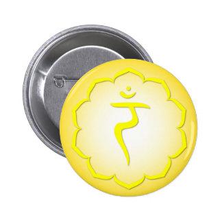 3rd Chakra - Manipura 2 Inch Round Button