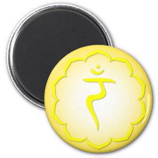 3rd Chakra - Manipura 2 Inch Round Magnet