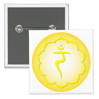 3rd Chakra - Manipura 2 Inch Square Button