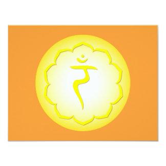 3rd Chakra - Manipura 4.25x5.5 Paper Invitation Card