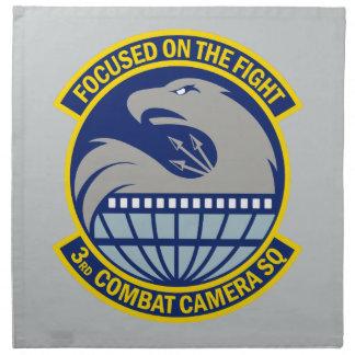 3rd Combat Camera Squadron - Focused On The Fight Cloth Napkin