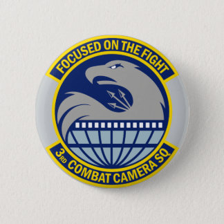 3rd Combat Camera Squadron - Focused On The Fight Pinback Button