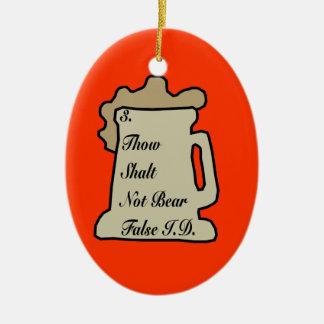 3RD Commandment Of Beer Ornament