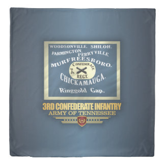 3rd Confederate Infantry Duvet Cover