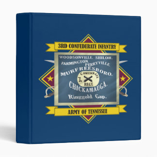 3rd Confederate Infantry (F3) 3 Ring Binder