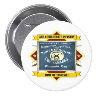3rd Confederate Infantry Pinback Button