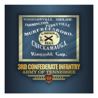 3rd Confederate Infantry Poster