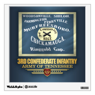 3rd Confederate Infantry Wall Decal