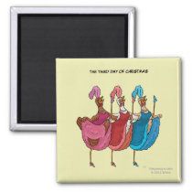 3rd Day of Christmas (Three French Hens) Magnet