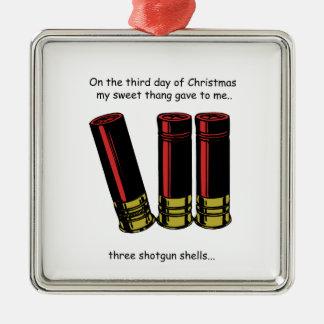 3rd Day Redneck Christmas Metal Ornament