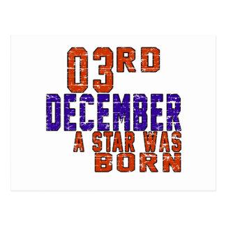 3rd December a star was born Postcard