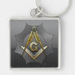 3rd Degree: Master Mason Silver-Colored Square Keychain