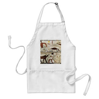 3Rd Dynasty Of Egypt Painting: Trapping (Harvestin Adult Apron