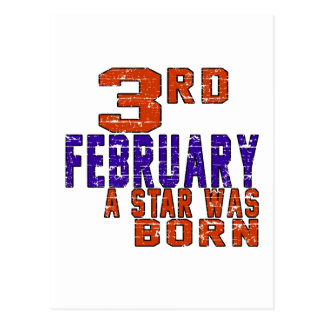 3rd February a star was born Postcard