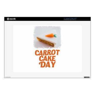 "3rd February - Carrot Cake Day - Appreciation Day 15"" Laptop Decal"