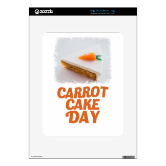 3rd February - Carrot Cake Day - Appreciation Day Skins For The iPad