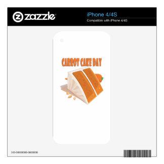 3rd February - Carrot Cake Day iPhone 4 Skin