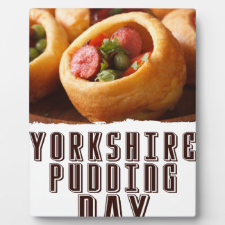 3rd February - Yorkshire Pudding Day Plaque