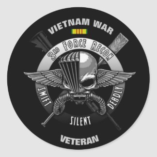3RD FORCE RECON VIETNAM WAR VETERAN CLASSIC ROUND STICKER
