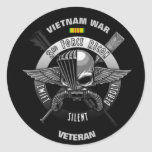 3RD FORCE RECON VIETNAM WAR VETERAN ROUND STICKERS
