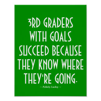 3rd Grade Classroom Poster in Green