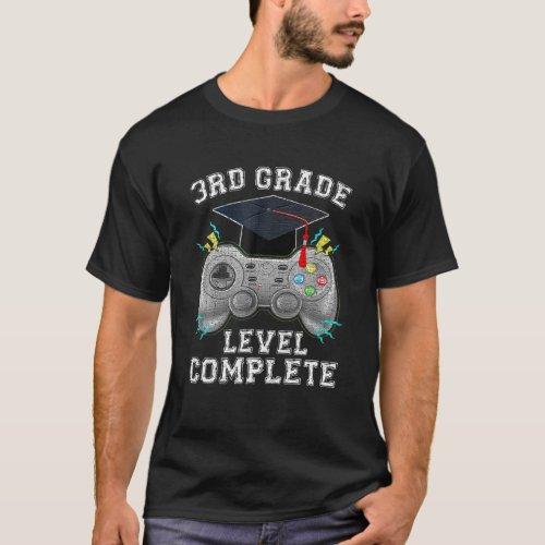 3Rd Grade Level Complete Gamer Class Of 2021 Gradu T_Shirt