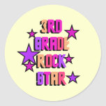3rd Grade Rock Star Tshirts and Gifts Sticker