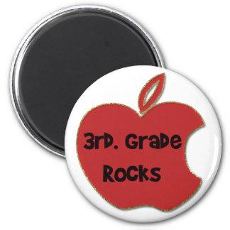 3rd. Grade Rocks 2 Inch Round Magnet