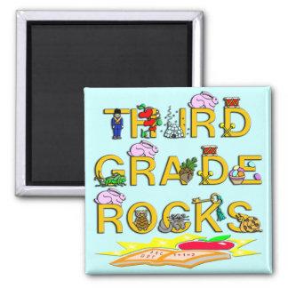 3rd Grade Rocks 2 Inch Square Magnet