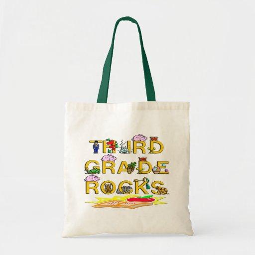 3rd Grade Rocks Canvas Bag