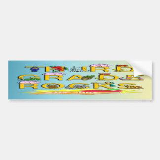 3rd Grade Rocks Car Bumper Sticker