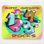 3rd Grade Rocks - Numbers Mouse Pad