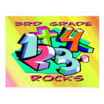 3rd Grade Rocks - Numbers Postcard